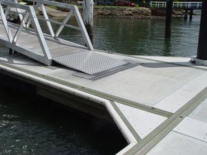 concrete dock decking