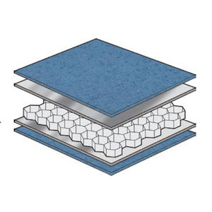 ship partition wall sandwich panel / honeycomb / aluminum