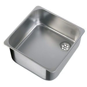 square sink / stainless steel / for boats