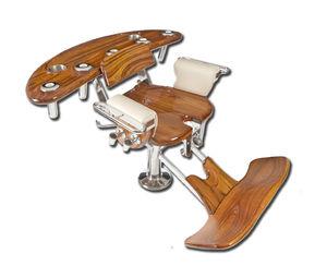 teak fighting chair