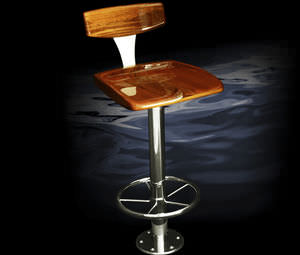 round base bar stool / for yachts / for ships