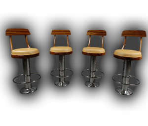 round base bar stool / for ships / for yachts