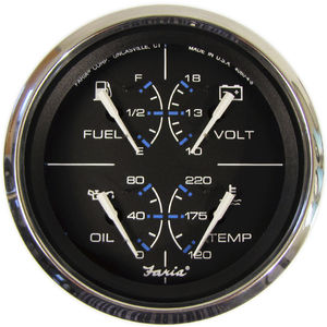 boat indicator / level / DC ammeter / oil pressure