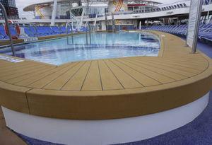 non-slip boat decking / teak slat