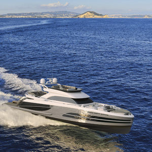 cruising motor yacht / flybridge / IPS POD / aluminum