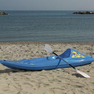 recreational canoe / solo / fiberglass