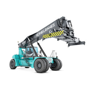 reach-stacker with top-lift spreader