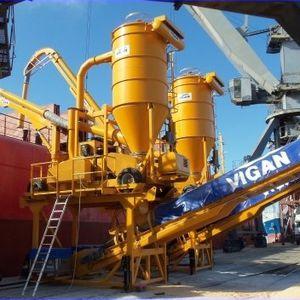 pneumatic ship unloader / continuous / mobile