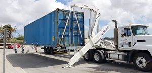 container trailer / for terminals / self-loading container / side-lift