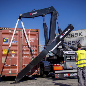 handling trailer / container / for terminals / side-lift