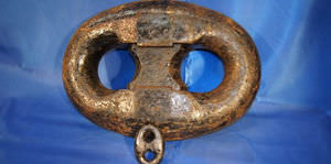 Kenter shackle for ships / anchor chain / forged