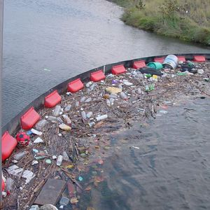 pollution control boom / inflatable / river