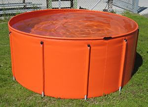 hydrocarbon tank / temporary storage / with frame / portable