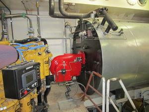 oil heater / vertical / heavy fuel oil / for ships