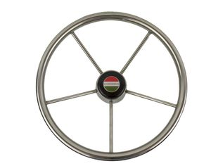 stainless steel power boat steering wheel / design