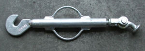 closed-body turnbuckle / articulated toggle / hook / container lashing