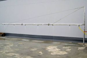 spray system with arm / dispersant / boat-mounted / oil spill