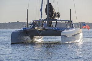catamaran sailing yacht / cruising / racing / with enclosed cockpit