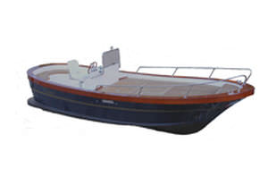 inboard center console boat / sport-fishing / classic / 7-person max.