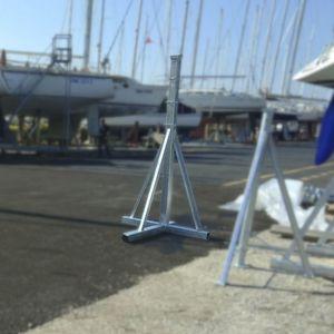 sailboat boat stands / adjustable / galvanized steel