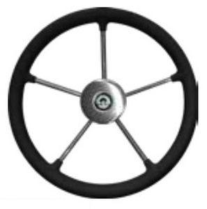 stainless steel power boat steering wheel