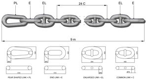 ships chafe chain / anchor / stud link