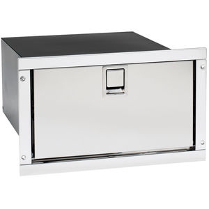 boat refrigerator / built-in / stainless steel / drawer