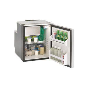 boat refrigerator-freezer / built-in / compressor / stainless steel
