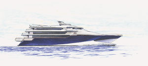 high-speed mega-yacht / raised pilothouse / composite