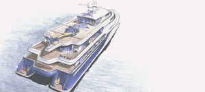 catamaran mega-yacht