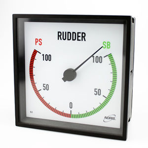 boat indicator / for ships / multi-function / rudder angle