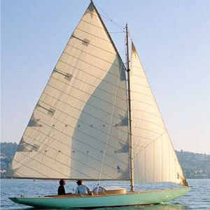 monohull / classic / open transom / wooden