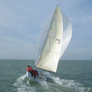 coastal cruising sailboat / dayboat / open transom / wooden