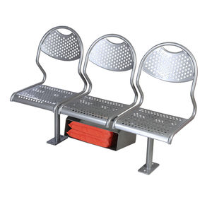 passenger ship seat / 3-person / stainless steel