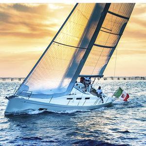 cruising-racing sailboat