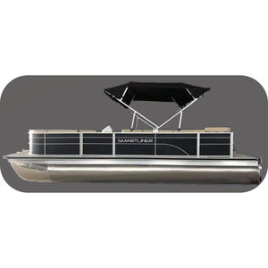 outboard pontoon boat / aluminum / 9-person max.