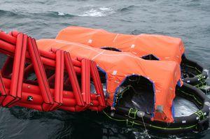 ship marine evacuation slide