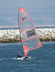 single-handed sailing dinghy / regatta / Byte