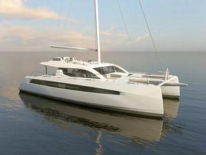 catamaran / cruising / open transom / 3-cabin
