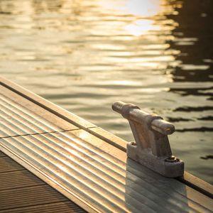 dock mooring cleat / flat / aluminum