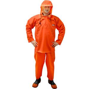 aquaculture jacket / rubber / hooded / long-sleeve