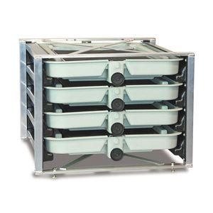 4-tray fish incubator / for aquaculture / salmon / trout