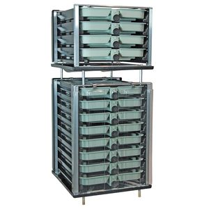 aquaculture fish incubator / salmon / trout / vertical