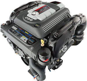 stern-drive engine / gasoline / boating