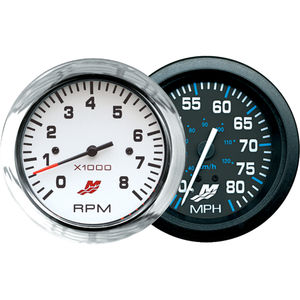 boat indicator / speed / analog / engine