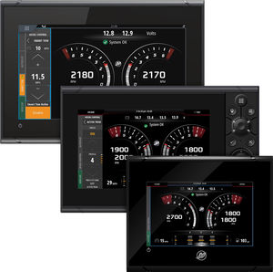 boat display / for engines / touch screen