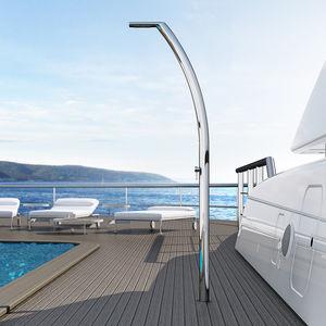 yacht shower / boat deck / stainless steel / for docks