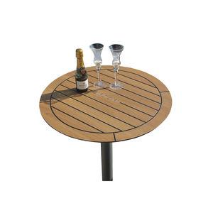 yacht cockpit table / fixed / teak