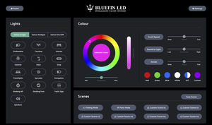lighting monitoring and control panel