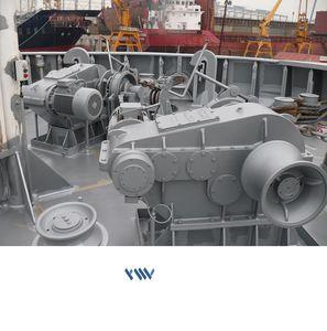 electric windlass / for ships / horizontal / single-drum